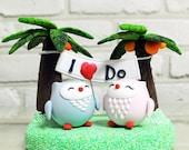 """Love birds 'I Do"""" banner wedding cake topper Deco Gift"""
