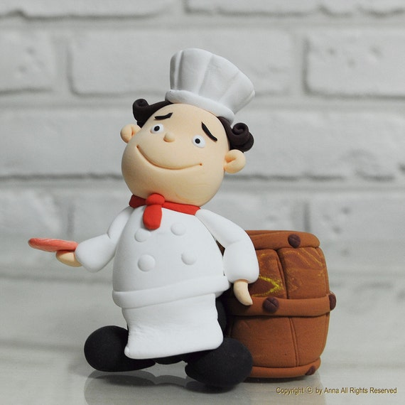 chef wedding cake toppers items similar to chef theme cake topper decoration gift on 12633
