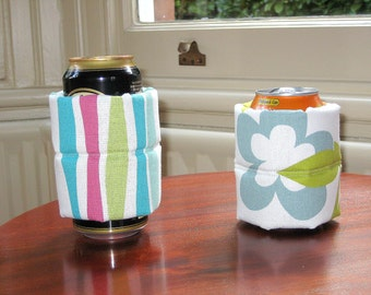 Stubby Holders,Cool or Hot Drink Cozy, Can Holder, Beer Cooler, Coffee Cozy