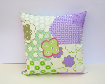 Cotton Cushion Cover - Hexaganol Shaped Patchwork Print, 40x40cms, Home Decor, Summertime Decor