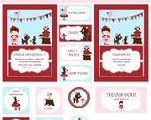 Little Red and Friends Printable Party Package