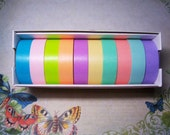 10 yards Solid bright  MT Masking Tape SET 7   (1 yard per Color)