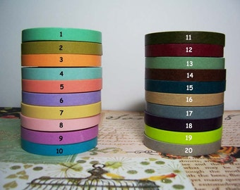 10 yards ( 7 mm) Variety washi Tape SET 10  for  (10 Colors)