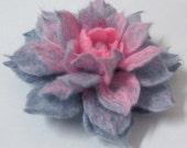 felted brooch beautiful flower