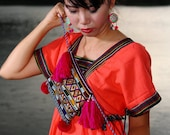 Mien Pocket Bag/Yao pocket Bag/Tribal/Ethnic/textile/Embroidery/whole sale