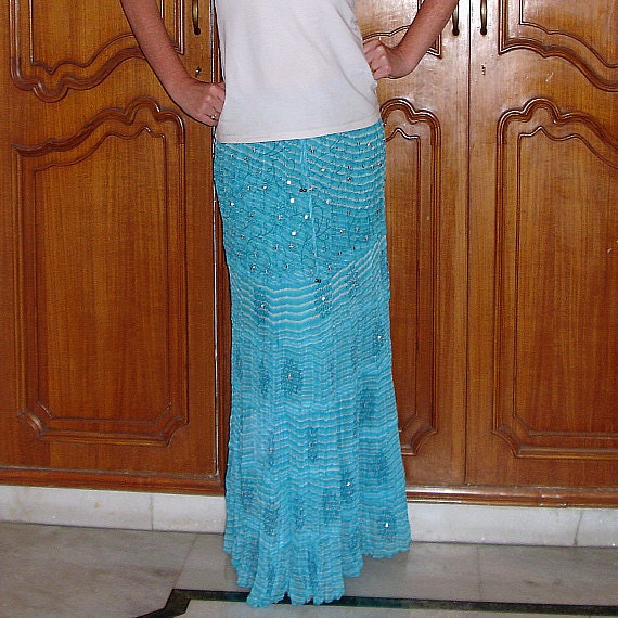 maxi skirt indian skirt flowy tiered boho skirt by