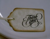 20 Thank you  -Wedding or Favor tags-Shower or Gift tags-Hang Tags