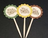 Fall Cupcake Picks - Holiday Food Picks