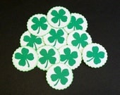 RESERVED For Kristin - Shamrock Stickers - St. Patrick's Day envelope seals - embellishments