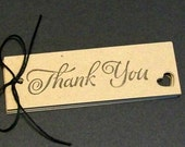 Thank You Tags - Rustic Wedding Favor Tags