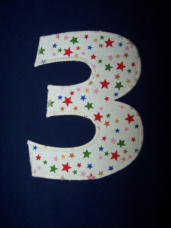1st 2nd 3rd 4th or 5th Birthday Appliqued Tee