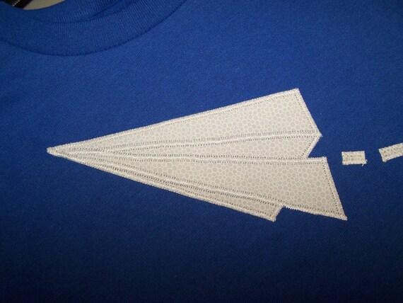Paper Airplane Appliqued Tee