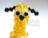 Swarovski crystal disney pluto the pup doll, phone charm, keychain, zipper pull or etc.