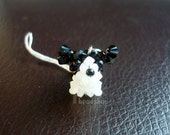 Swarovski Crystal White papillon for phone charm or accessories