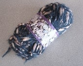 PATONS PEBBLES Navy And Tan Yarn 1 Skein.