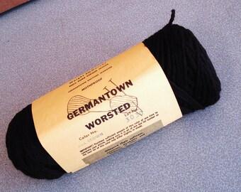 GERMANTOWN Worsted Virgin Wool Yarn in Seal Brown Color.