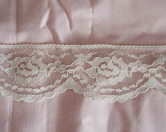 """Lace Poly Trim Off White Color 2"""" Wide."""