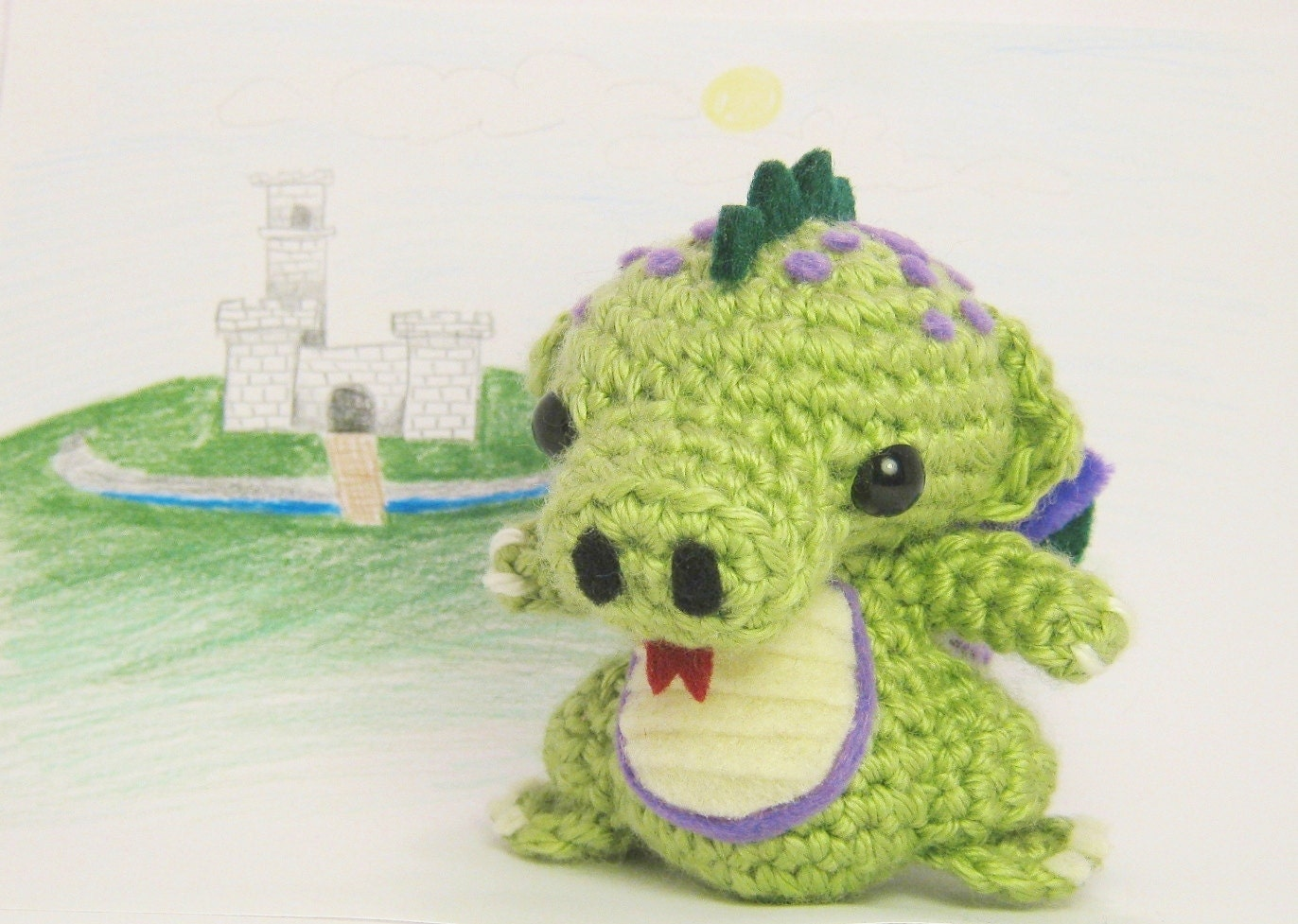 Amigurumi Dragon Wings Pattern : Crochet Dragon with Wings Amigurumi Doll by chubbyninjacrafts