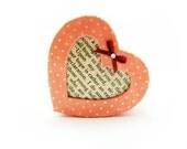 Jane Austen - Pride & Prejudice - Heart Shaped Pink Box - Decorative Box - Small Trinket Box - Gift Box - Unique GIft
