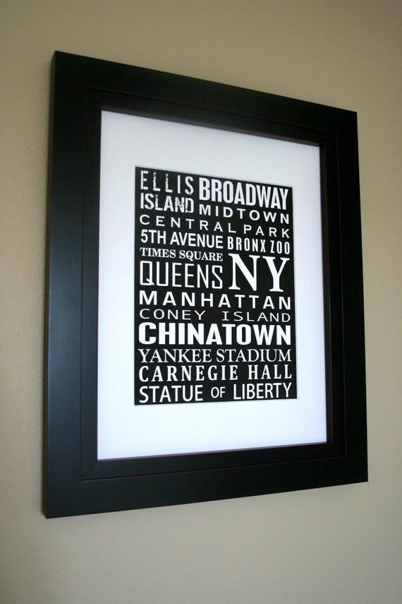 Word Art, Subway sign Art, Custom Wall Art, Graduation Gift, Wall Decor, Personalized Gift, City Signs