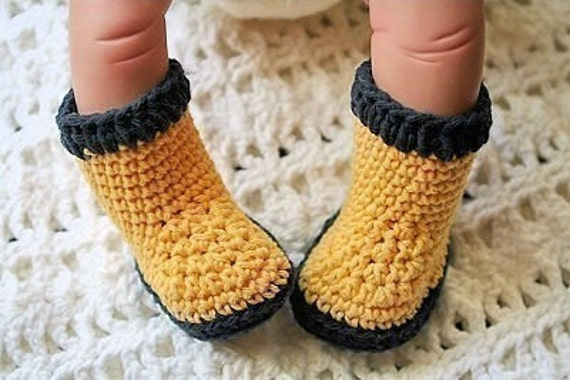 Free Crochet Patterns Dog Boots : Items similar to Booties Crochet Patterns for Baby W ...