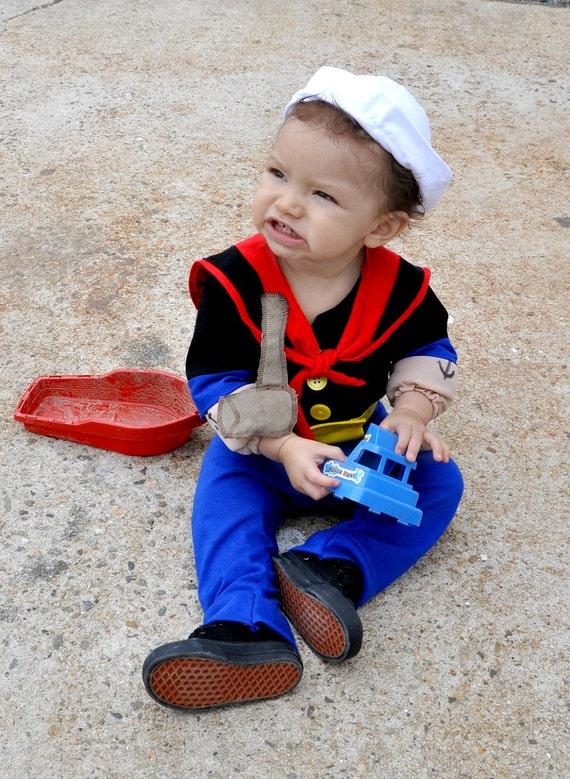 Items Similar Boys Babies Costume Popeye Sailor Man