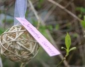 Set of 90- Straw Wedding Place Cards or Table Assignment Cards for your Outdoor Themed Wedding