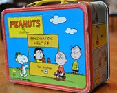 PEANUTS metal Lunch Box by Thermos - 1973