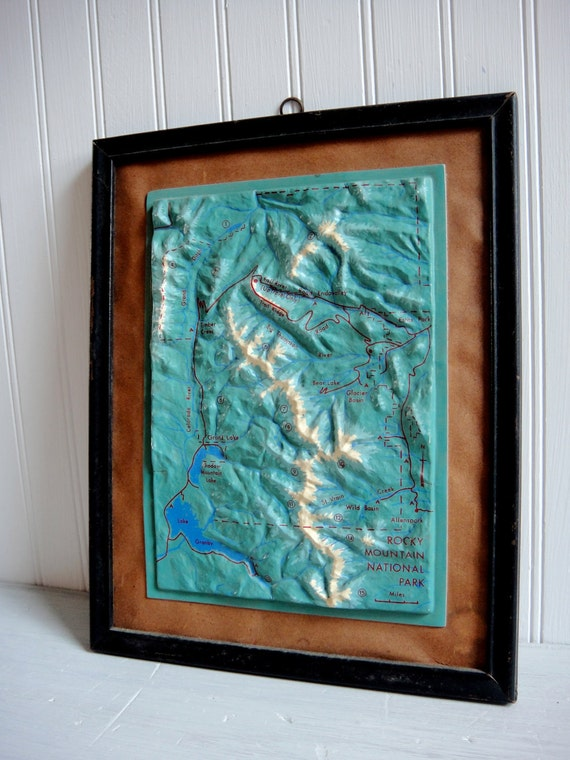 Topographic Map Of Rocky Mountain National Park