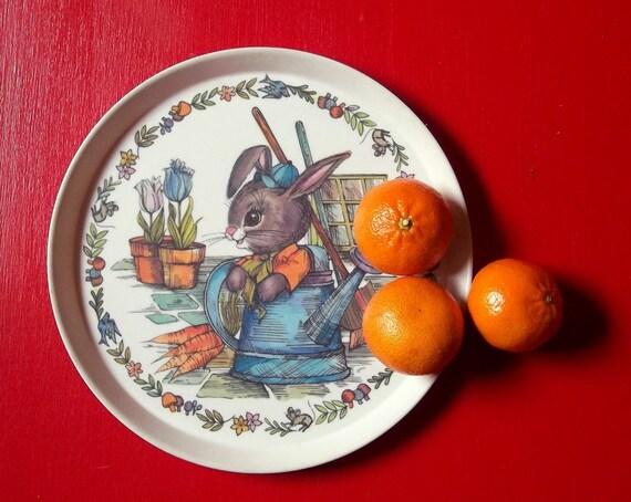 vintage Peter Rabbit melamine plate