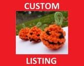 Custom Listing for ema2276 - Mini Halloween Pumpkins - Amigurumi hand knitted pumpkin decorations
