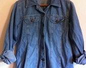 Vintage Womens Denim Button Up/Jacket