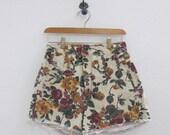 RESERVED for Misty // Vintage Floral Denim Cut Off Shorts