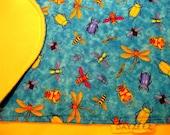 Girl Baby Kids Boy Bugs Bedding Crib Blanket Stroller Dragonfly