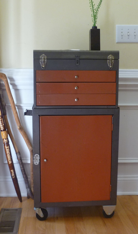 Reserved for Sarah - Industrial Cart with Removable Tool Chest.