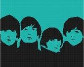 Cross Stitch Pattern - Beatles 3  - PDF - Instant Digital Download - SALE