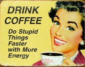 Cross Stitch Pattern - Drink Coffee - PDF -  Instant Digital Download - SALE