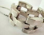 Vintage Mexican Silver  Modernist Bracelet