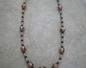 Amber Blues - Necklace