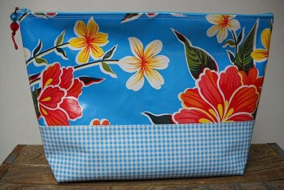 Oilcloth Cosmetic Bag - Large