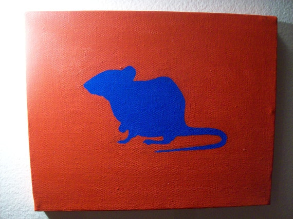 Rat Silhouette -  Acrylic Painting by C. Smith