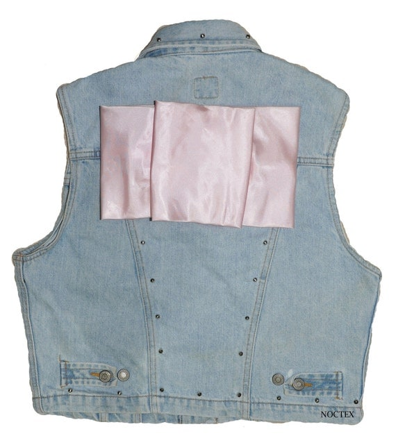 CLEARANCE: Reworked 1980s Squared Prom Peach Bow Vest