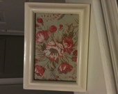 Shabby Chic 4 x 6 Frame in Antique White upcycled country cottage chic