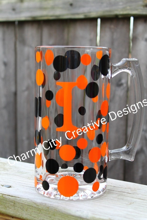 Personalized Beer Mugs-bengals, browns, orioles, flyers, oklahoma state