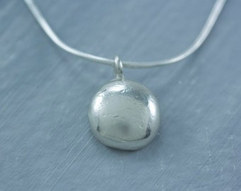 READY TO SHIP Sterling Silver Pebble Charm