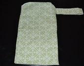 Medium Wet Bag-Modern Green Print