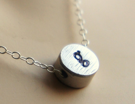 Personalized Initial Necklace REVERSIBLE Mommy's Necklace - Custom Hand Stamped Sterling Silver Necklace Mother's Day GiftMothers Day
