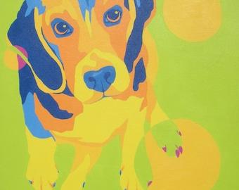 Beagle Dog Art