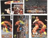 WWF/WWE Wrestlemania Trading Cards plus Collector's Album