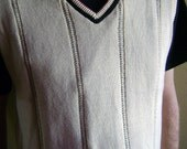 Unisex Sweater Vest Size Medium White/Eggshell